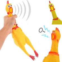 Screaming Rubber Chicken Novelty Dog Toy