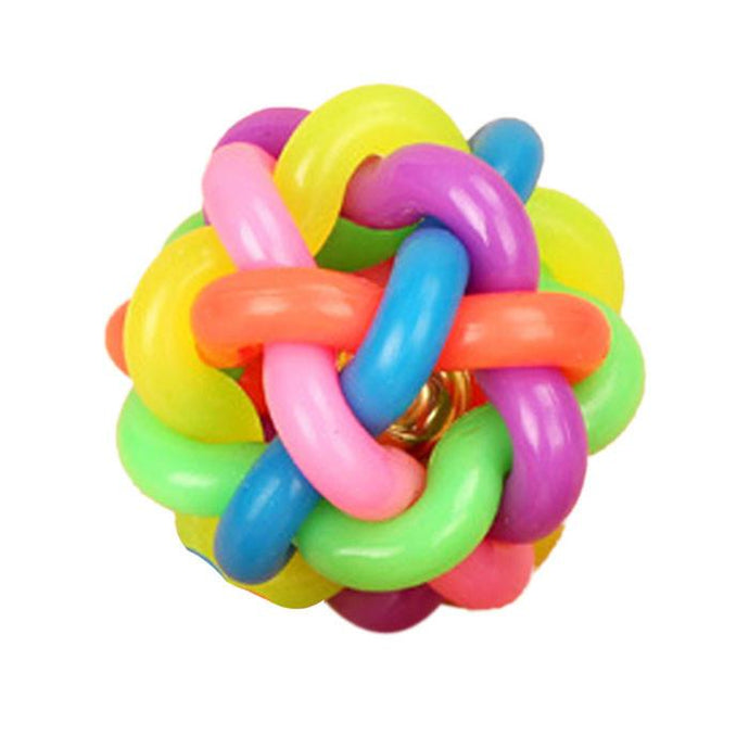 Rainbow Rubber Chew Ball