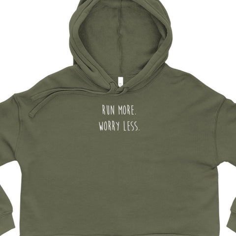 Run More Crop Top Hoodie