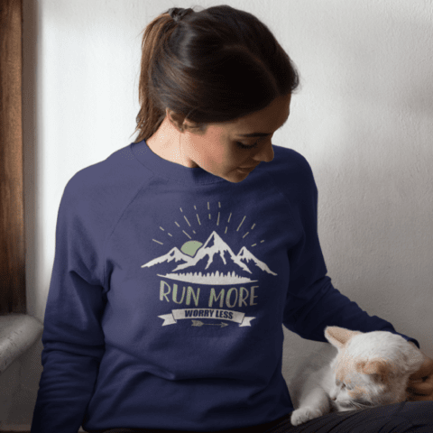 Run More Womens Sweatshirt
