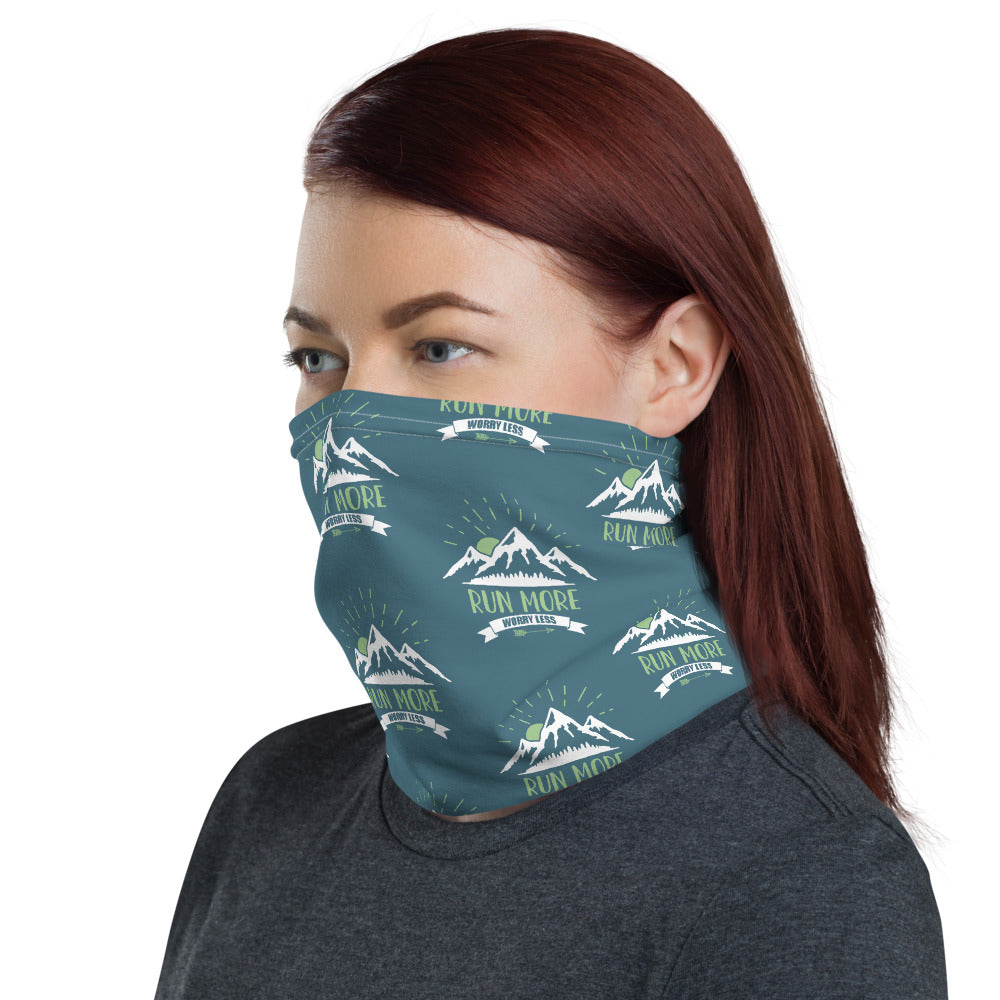 Run More Worry Less Neck Gaiter