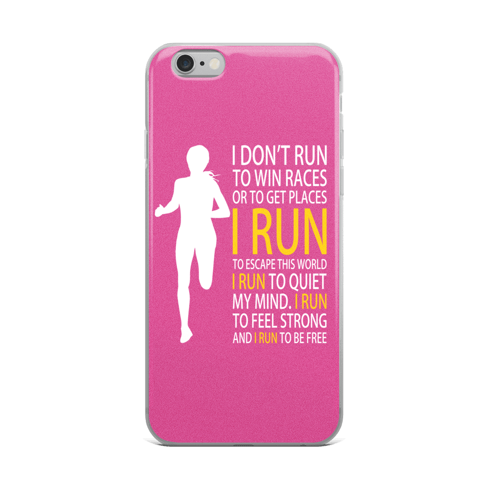Run Free Pink iPhone Case