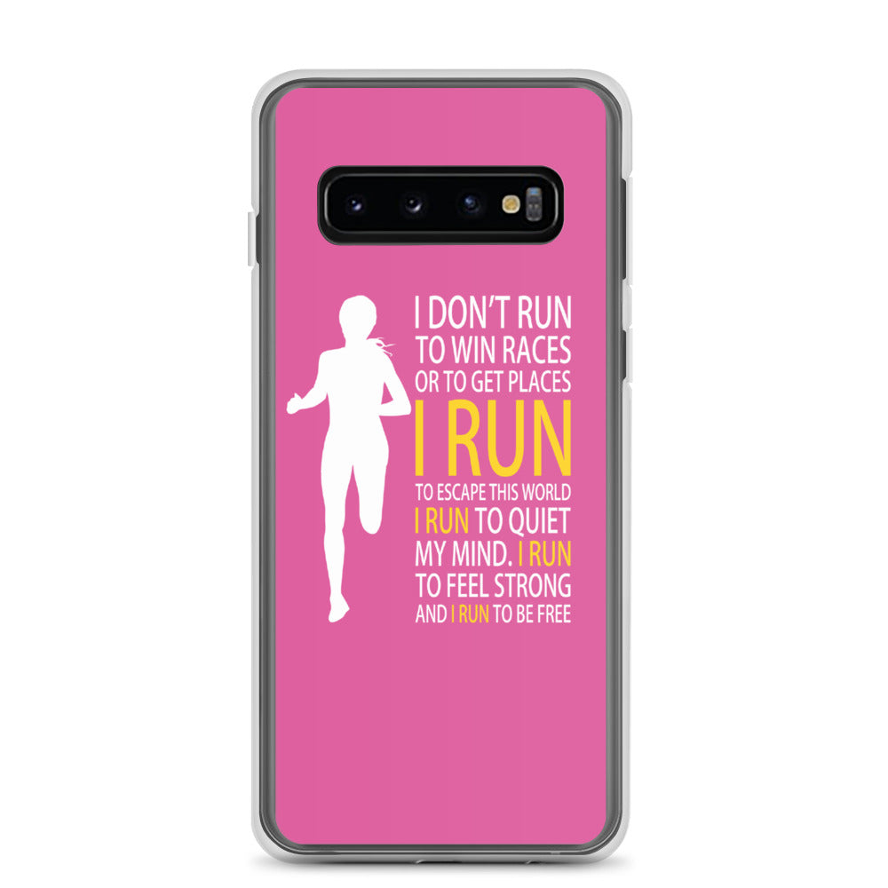 Run Free Pink Samsung Case
