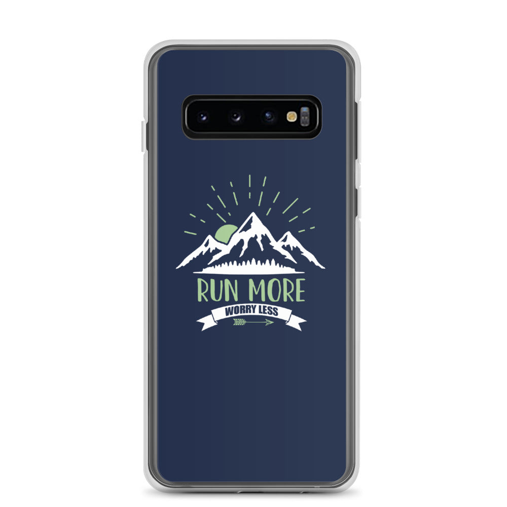 Run More Navy Samsung Case