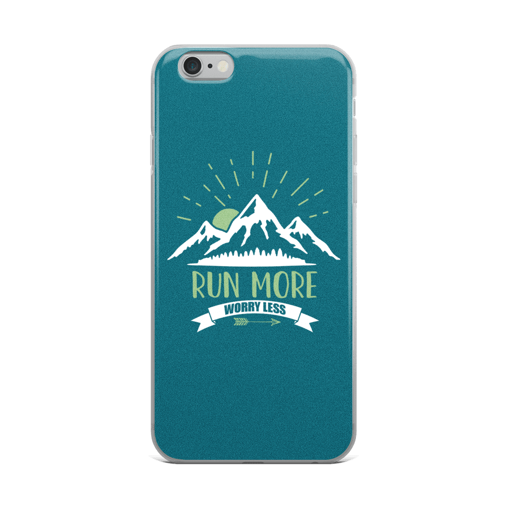 Run More Turquoise iPhone Case
