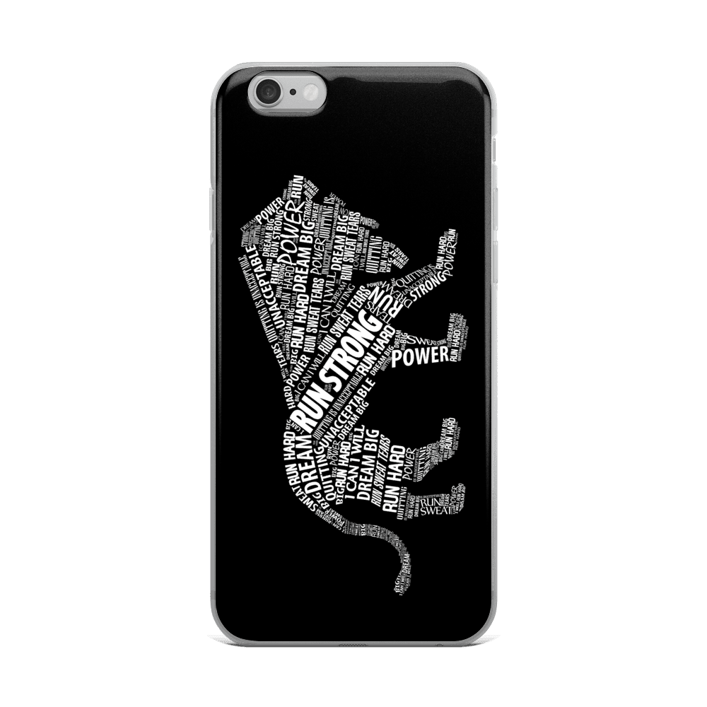 Run Strong Lion iPhone Case