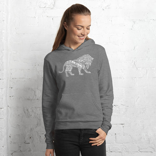 Run Strong Lion Womens Hoodie