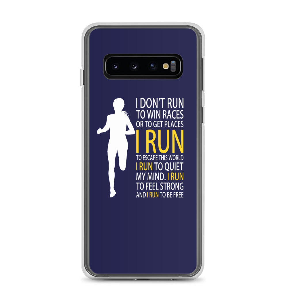 Run Free Navy Samsung Case