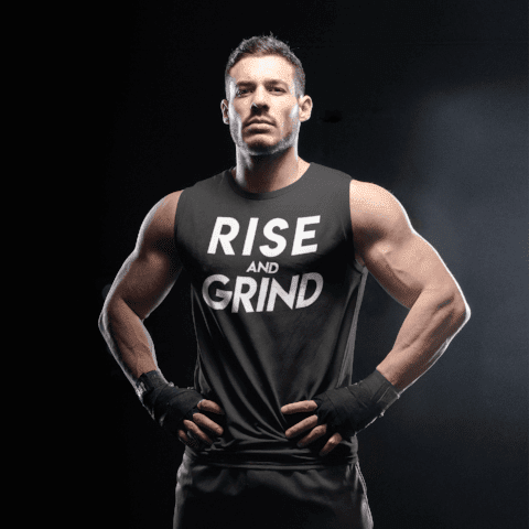 Rise and Grind Sleeveless Tee