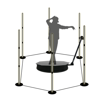 Portable LED light floor stand - MINLITES