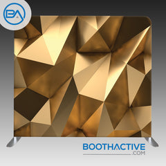 8' x 8' Backdrop - 3D Gold