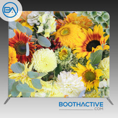 8' x 8' Backdrop - Flowers - Autumn Wedding