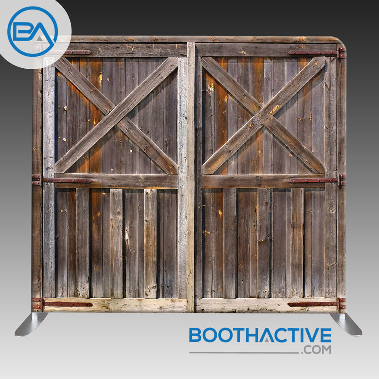 8' x 8' Backdrop - Barn Doors 2