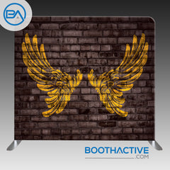 8' x 8' Backdrop - Brick Wings