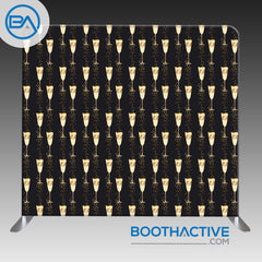 8' x 8' Backdrop - Champagne Glasses