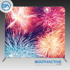 8' x 8' Backdrop - Fireworks 2