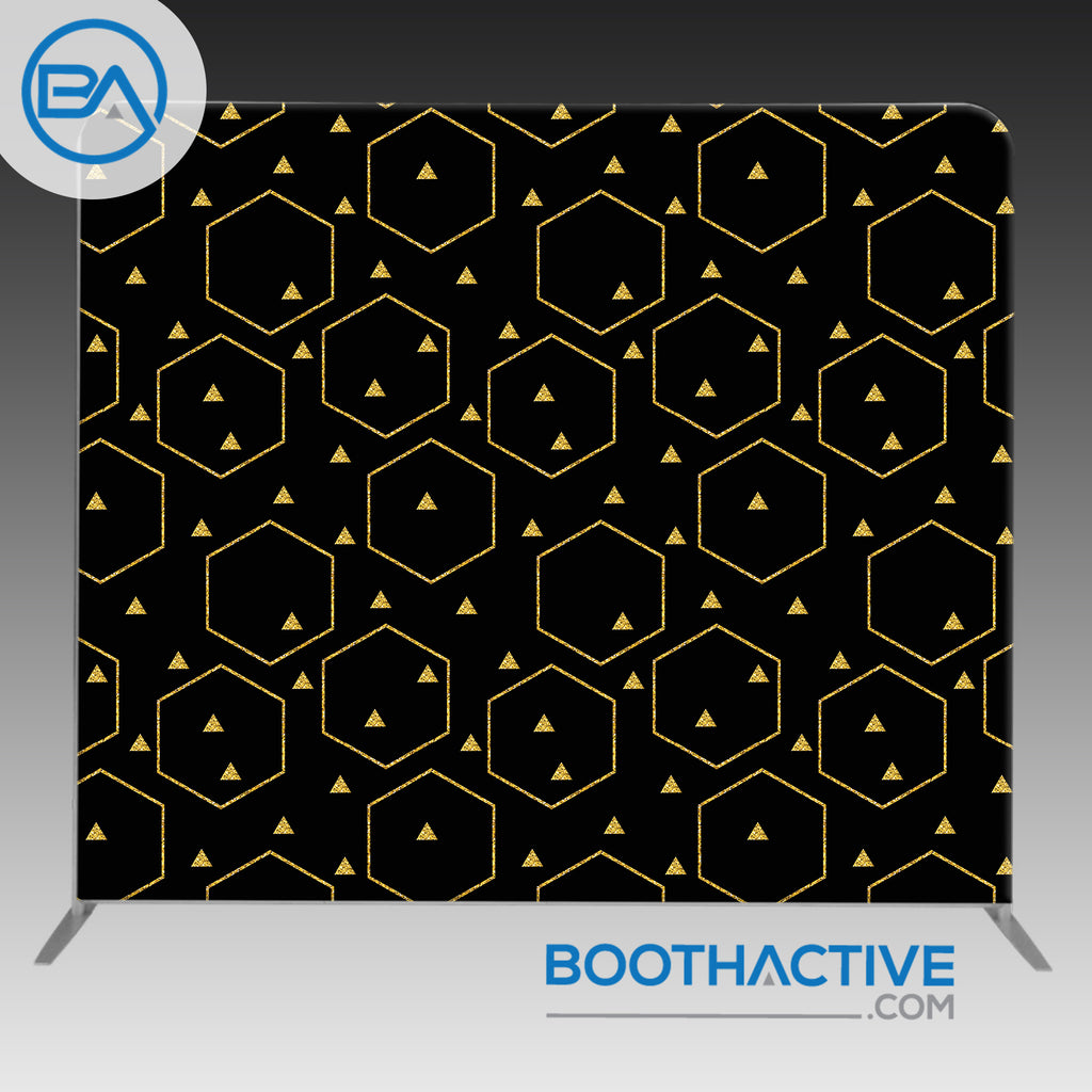 8' x 8' Backdrop - Glitter Triangles - Black