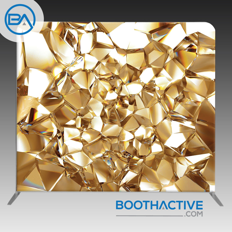 8' x 8' Backdrop - Gold Crystal