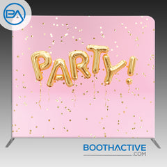 8' x 8' Backdrop - Gold Party