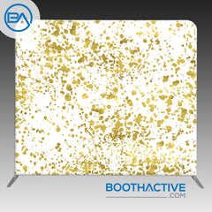 8' x 8' Backdrop - Gold Splatter
