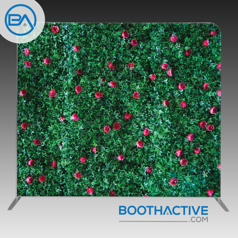 8' x 8' Backdrop - Grass Flower Wall