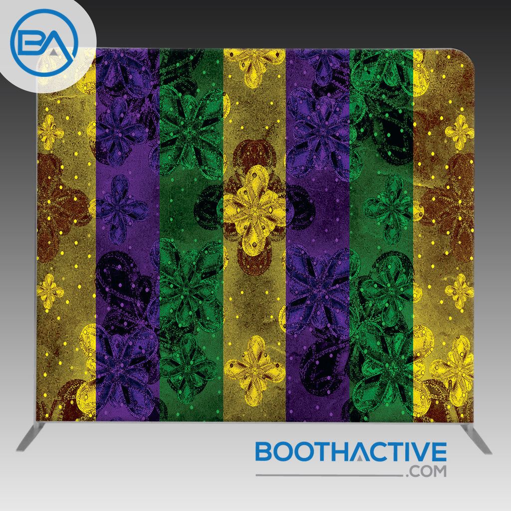 8' x 8' Backdrop - Mardi Gras