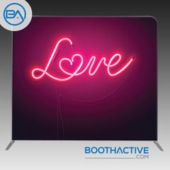 8' x 8' Backdrop - Neon Love