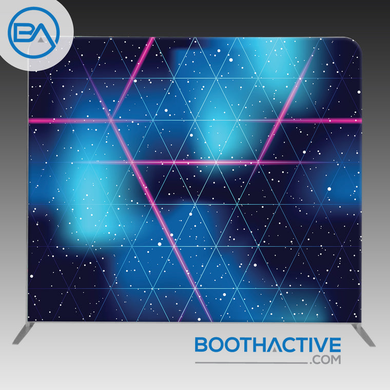 8' x 8' Backdrop - Retro Futuristic