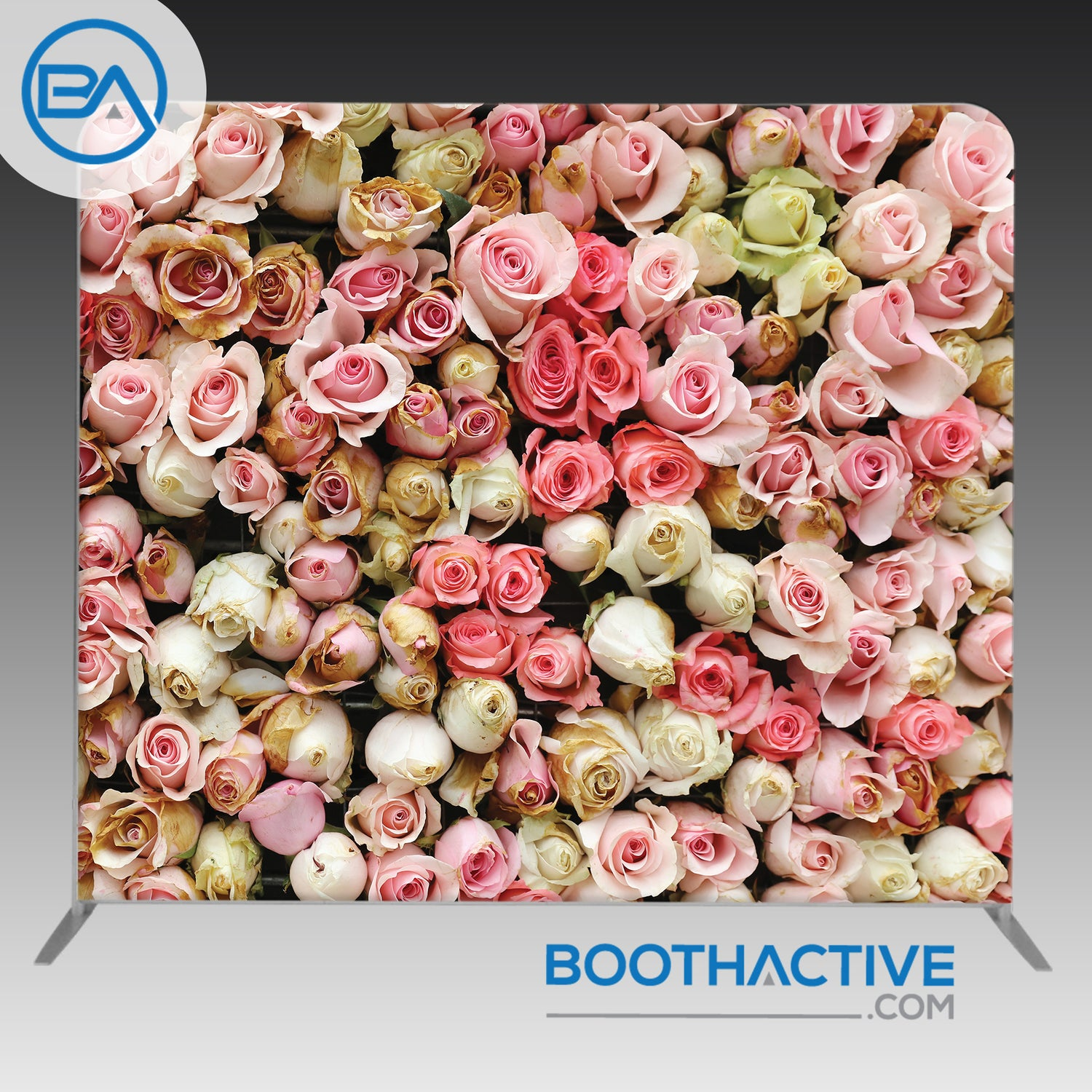 8' x 8' Backdrop - Rose Wall