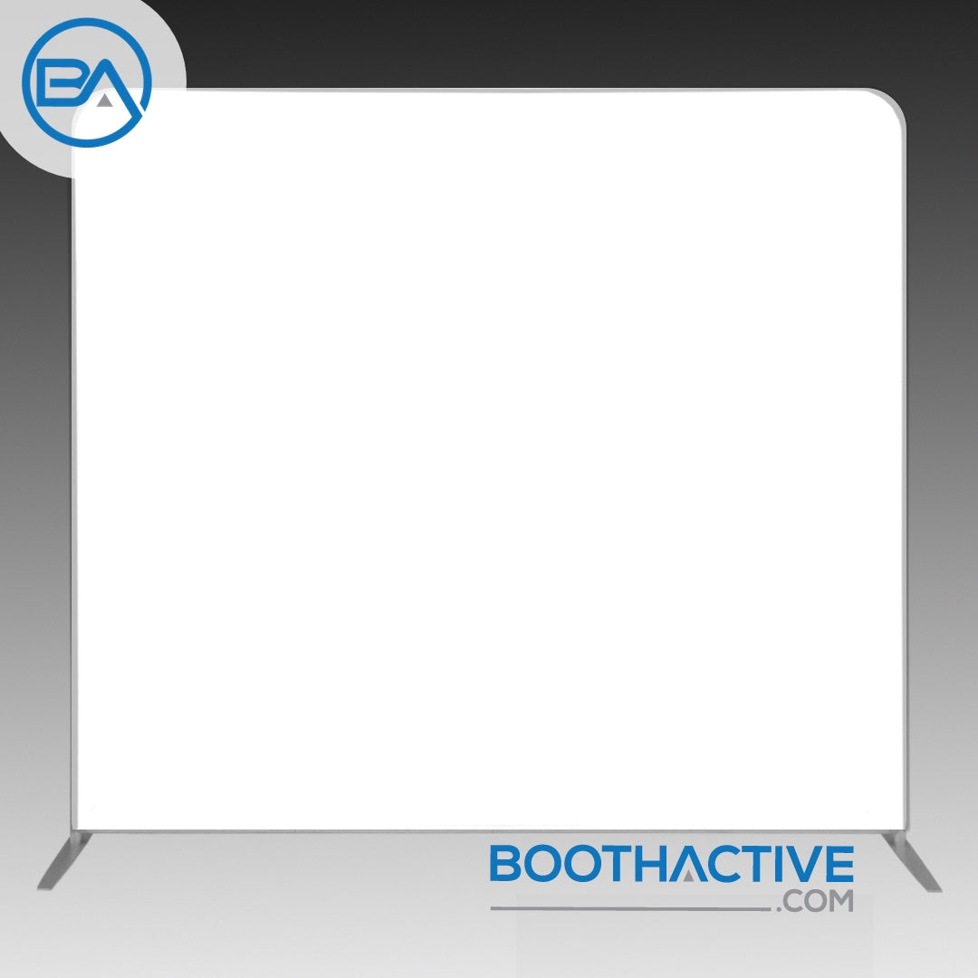 8' x 8' Backdrop - Solid - White - BoothActive