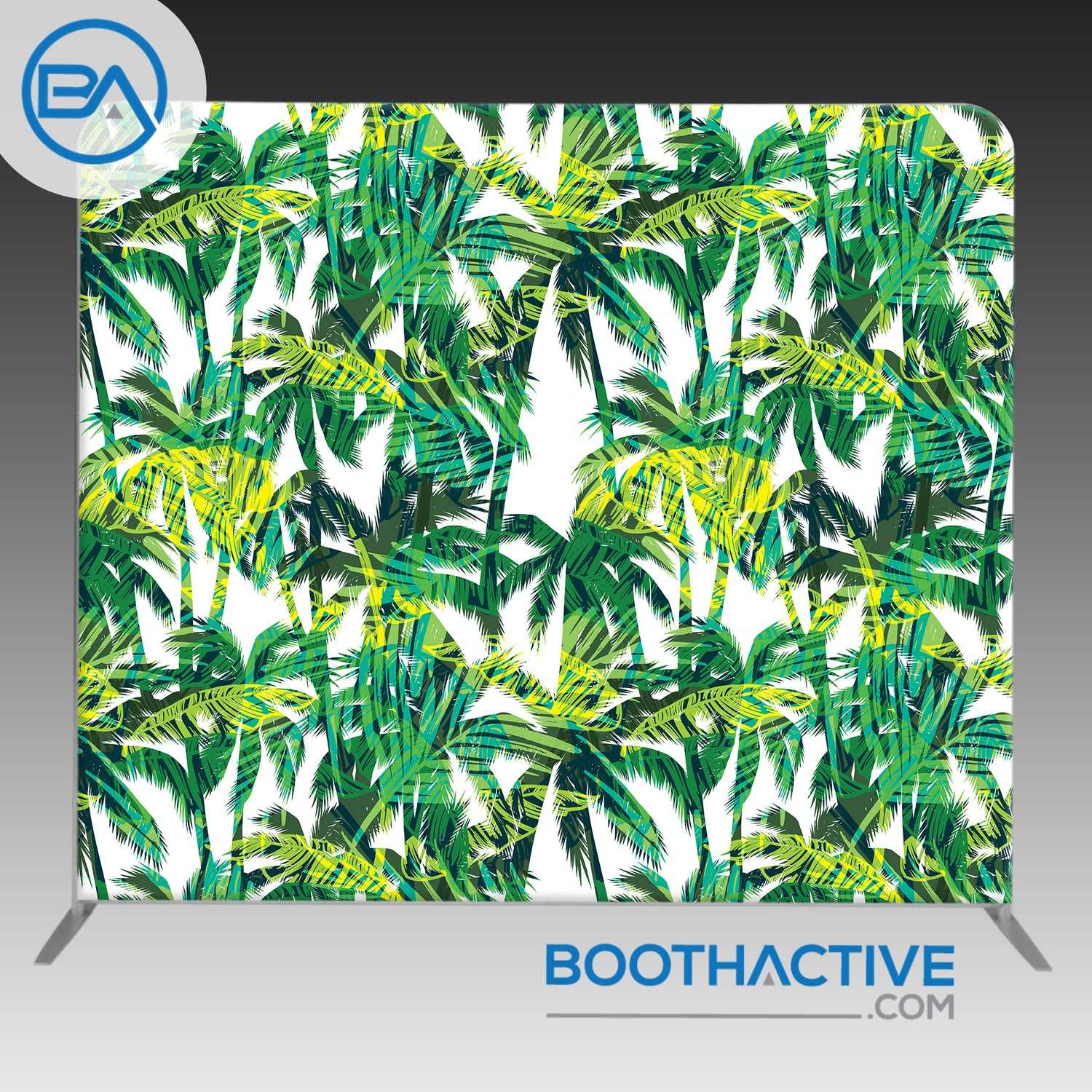 8' x 8' Backdrop - Summer - Palm Leaves