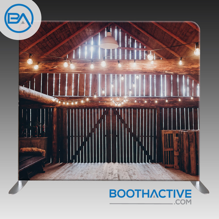 8' x 8' Backdrop - Barn Lights