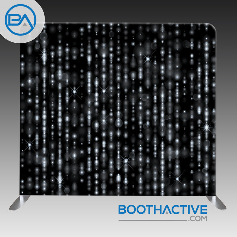 8' x 8' Backdrop - Black Sparkles
