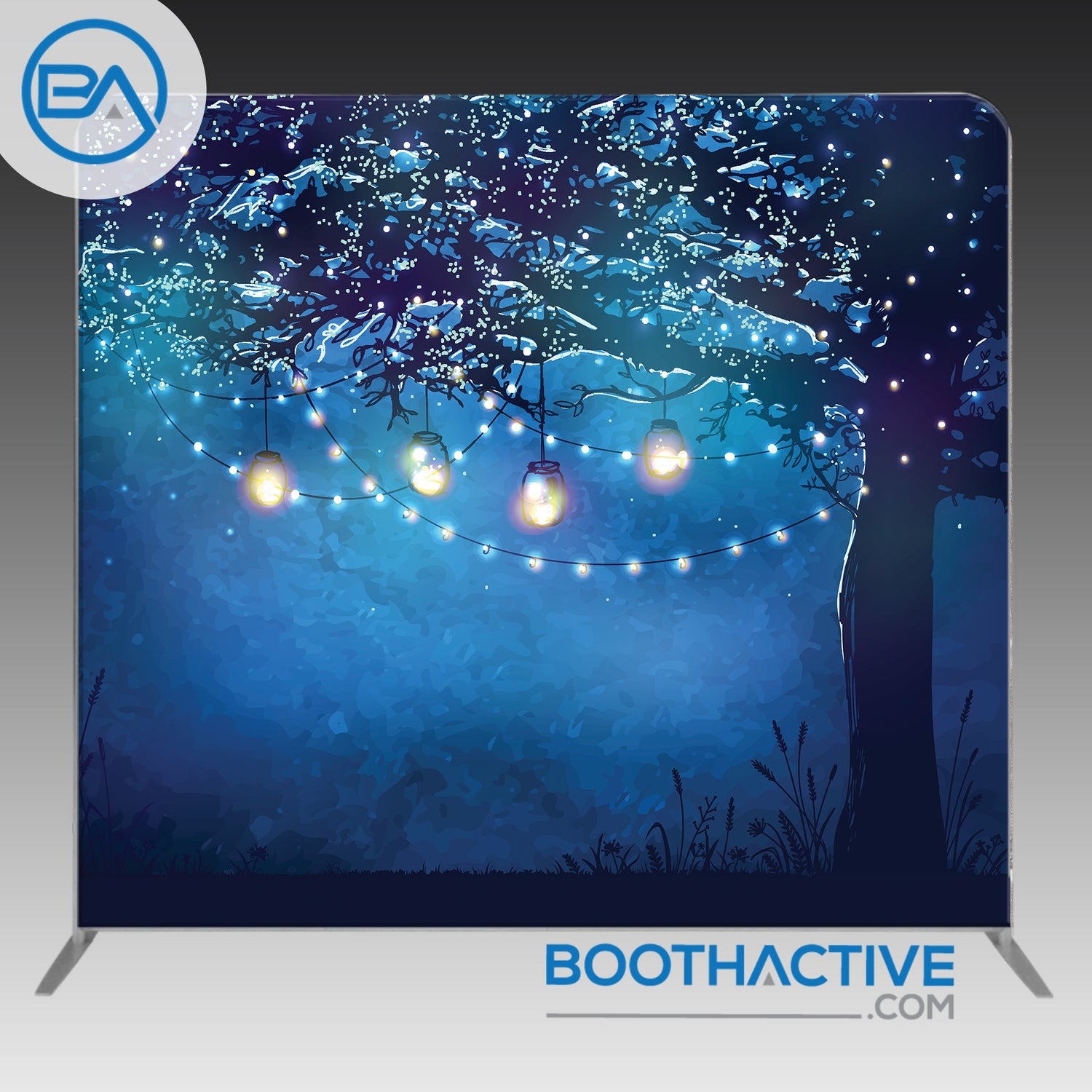 8' x 8' Backdrop - Tree Lights - BoothActive