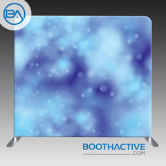 8' x 8' Backdrop - Bokeh - Blue