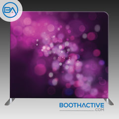 8' x 8' Backdrop - Bokeh - Dark Purple