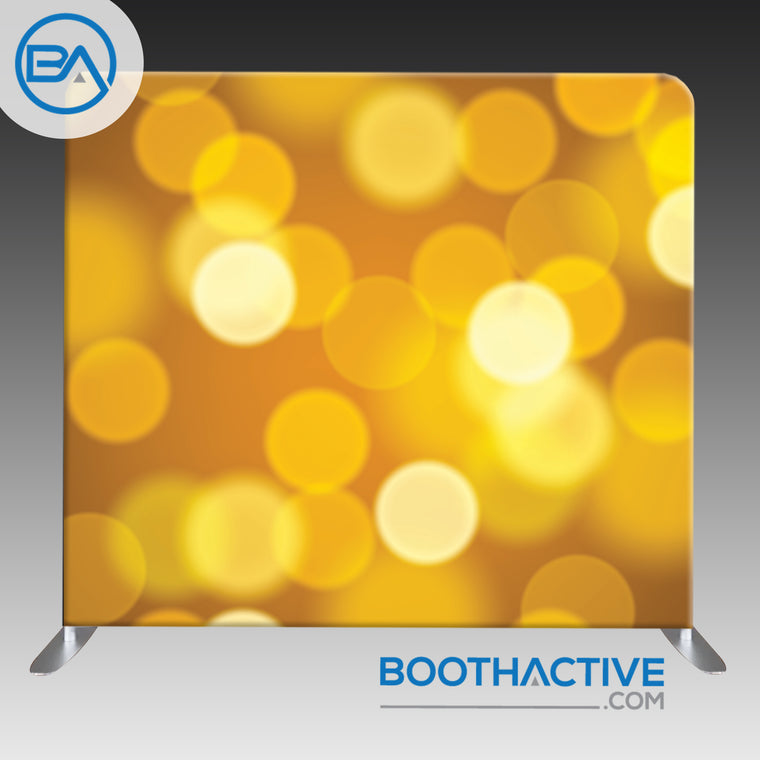 8' x 8' Backdrop - Bokeh - Gold
