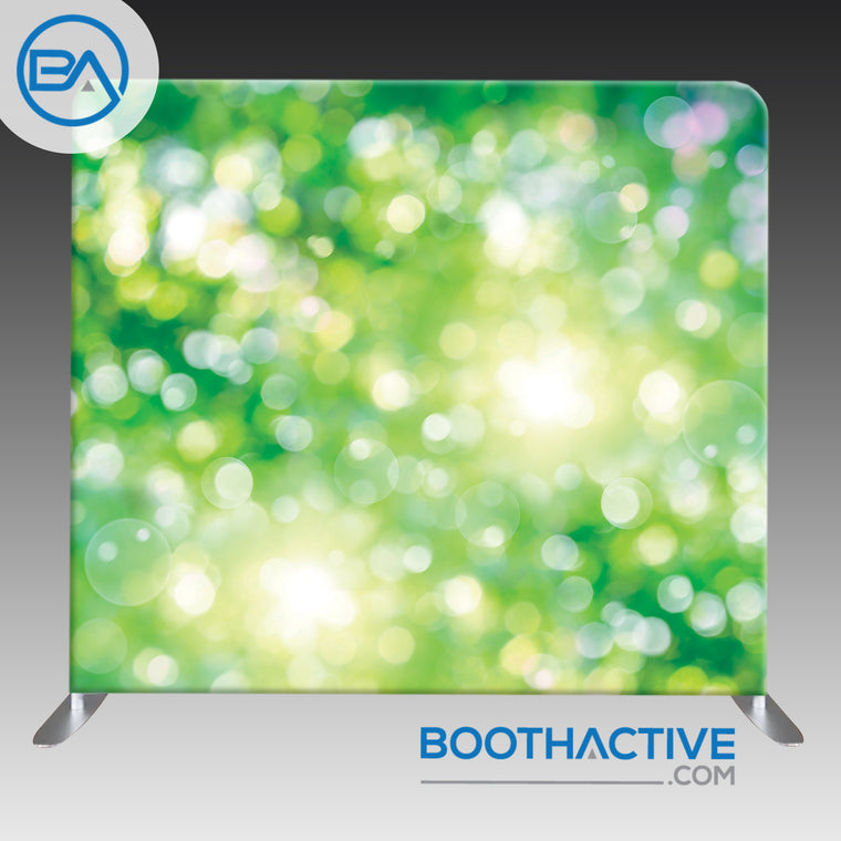 8' x 8' Backdrop - Bokeh - Green