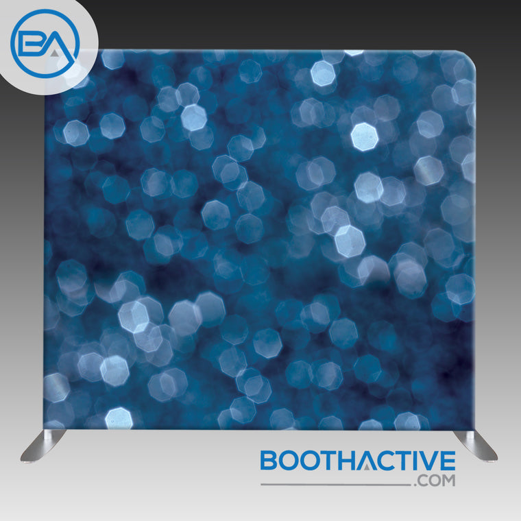 8' x 8' Backdrop - Bokeh - Navy