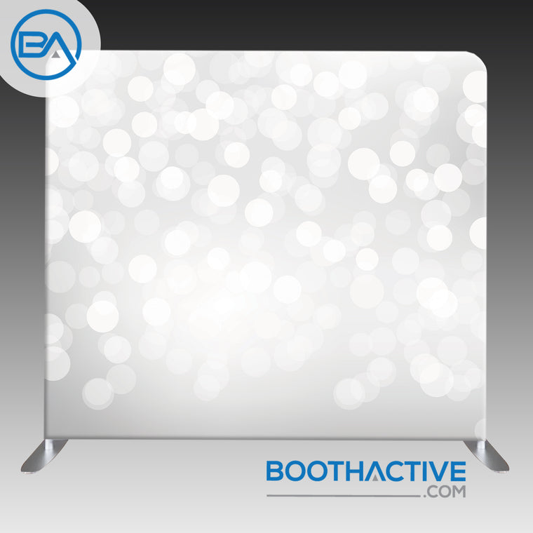 8' x 8' Backdrop - Bokeh - White