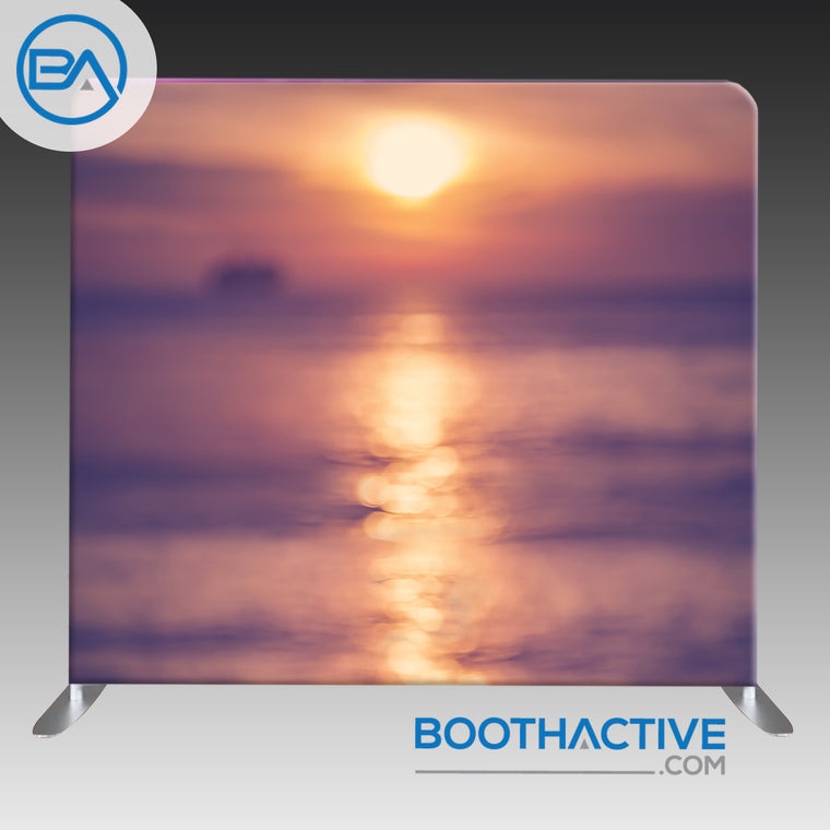 8' x 8' Backdrop - Bokeh - Beach Sunset