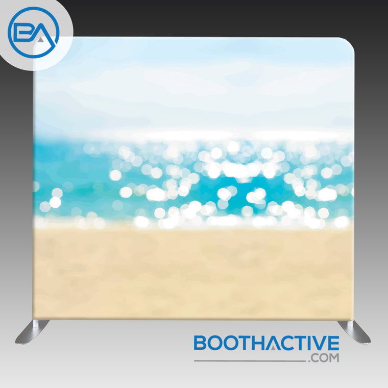 8' x 8' Backdrop - Bokeh - Beach