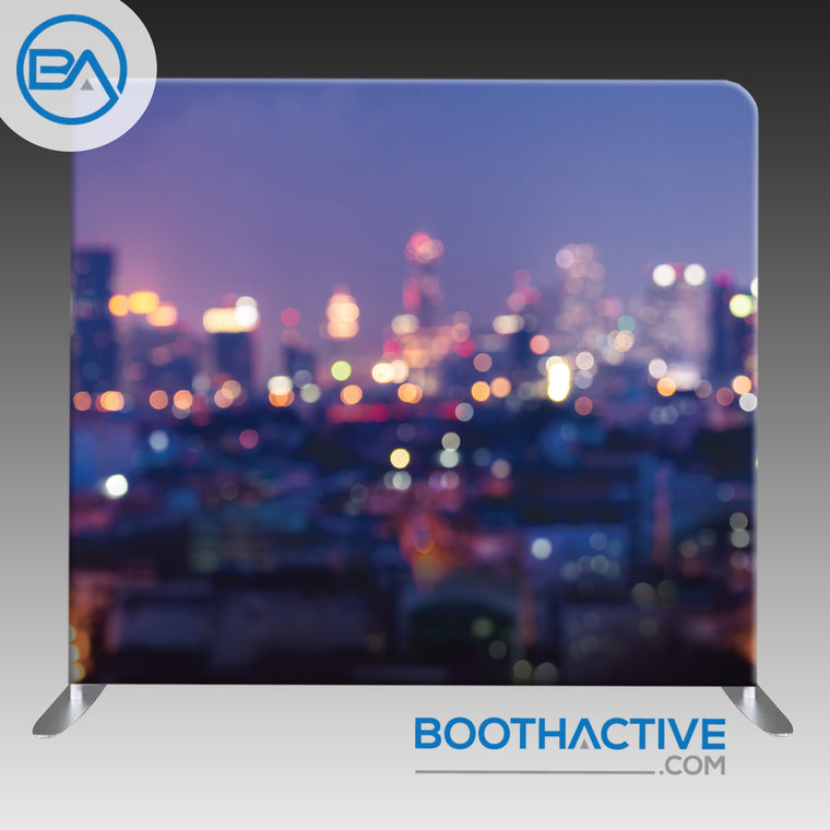 8' x 8' Backdrop - Bokeh - City Lights