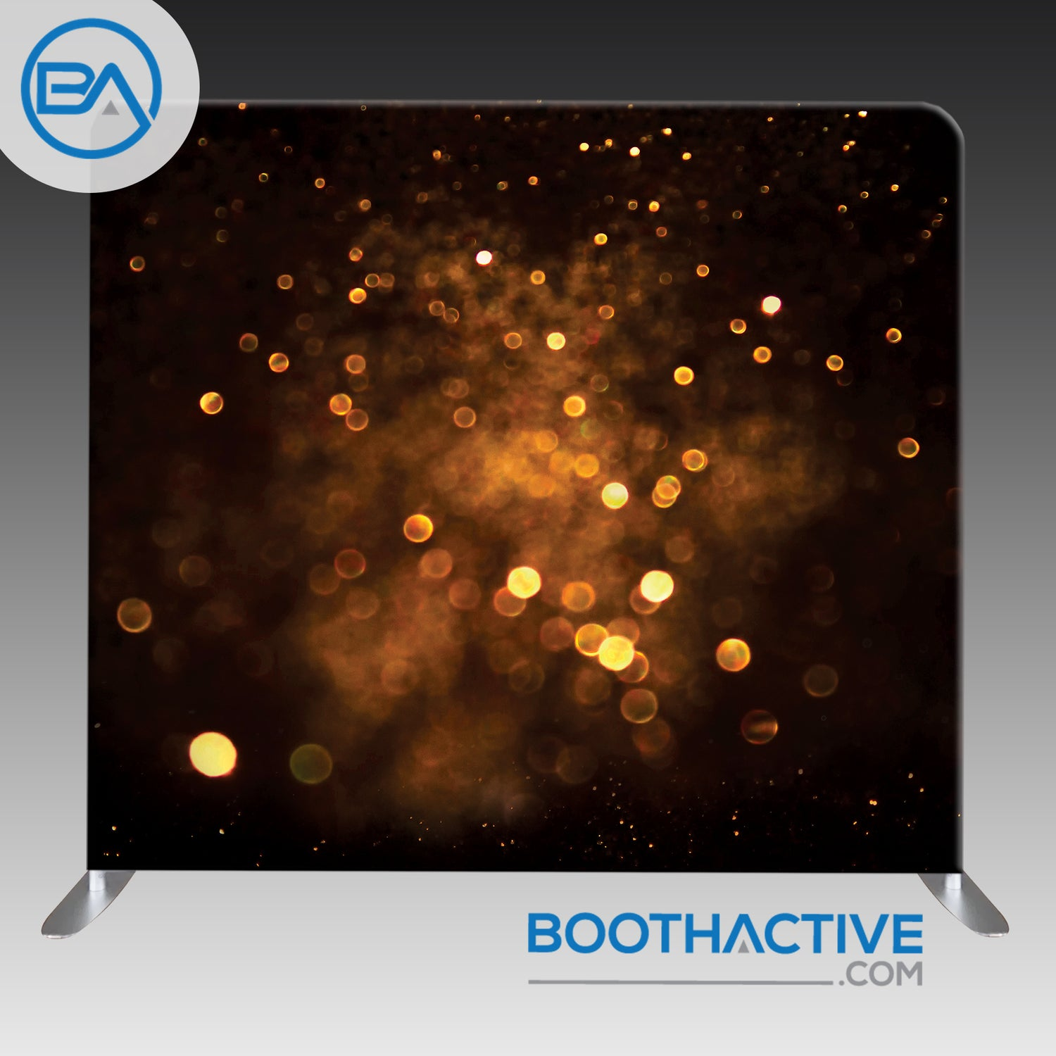 8' x 8' Backdrop - Bokeh - Dark Gold