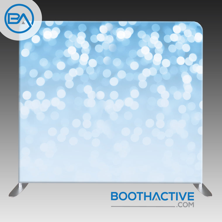 8' x 8' Backdrop - Bokeh - Light Blue