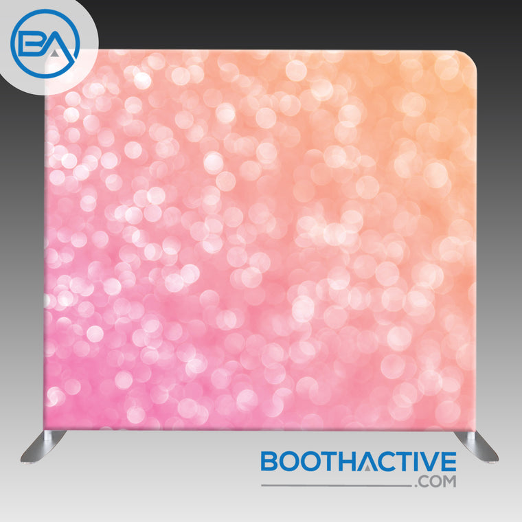 8' x 8' Backdrop - Bokeh - Pink