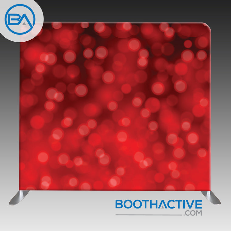 8' x 8' Backdrop - Bokeh - Red