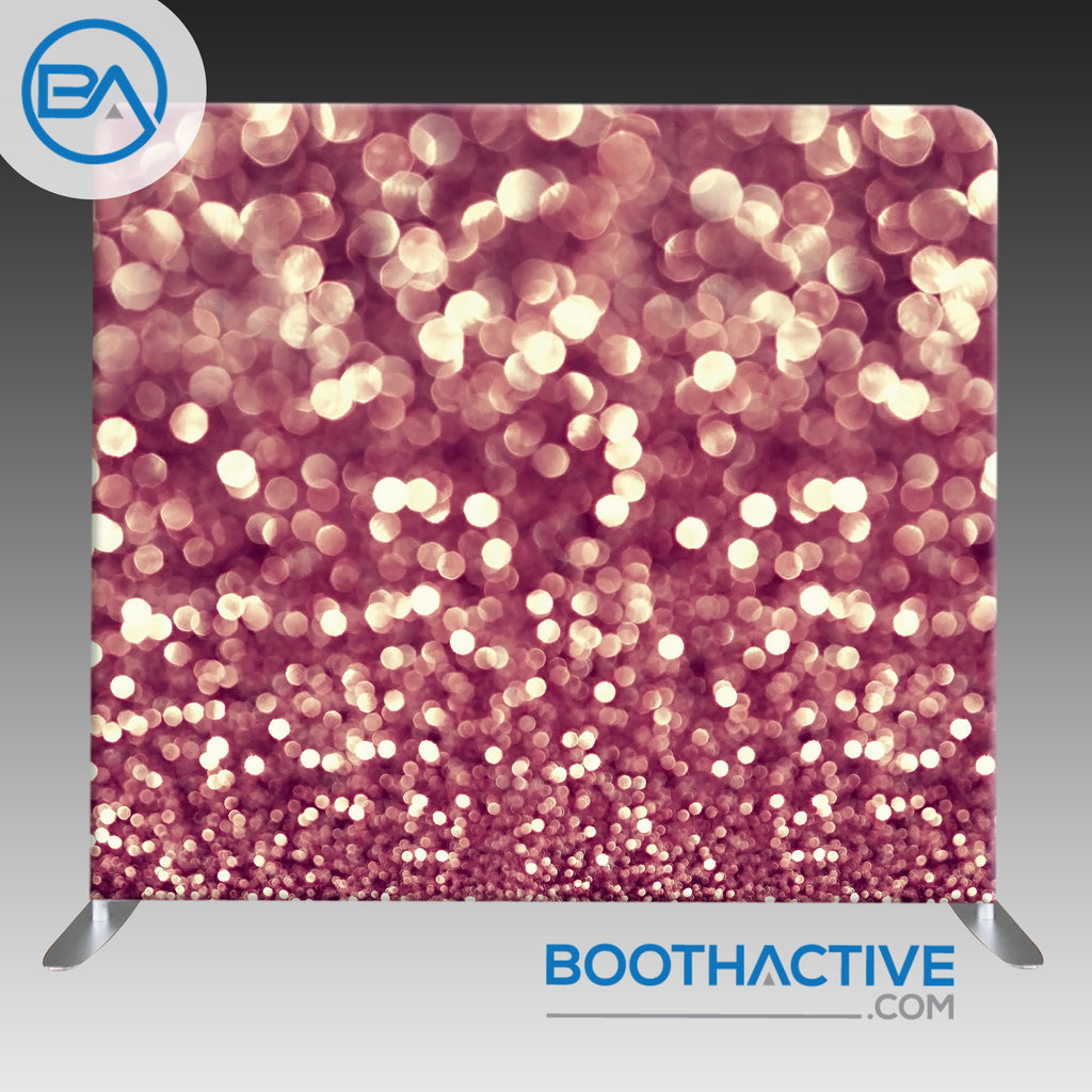 8' x 8' Backdrop - Bokeh - Rose Gold