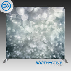 8' x 8' Backdrop - Bokeh - Silver