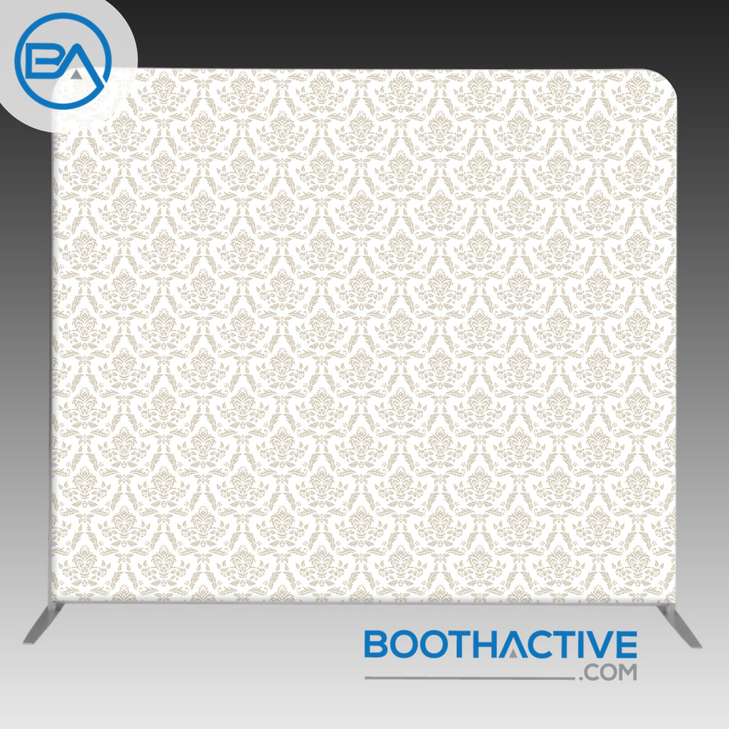 8' x 8' Backdrop - Damask - Beige - BoothActive